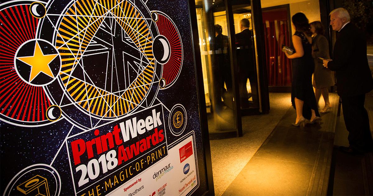 Fun at the Print Week UK Awards 2018