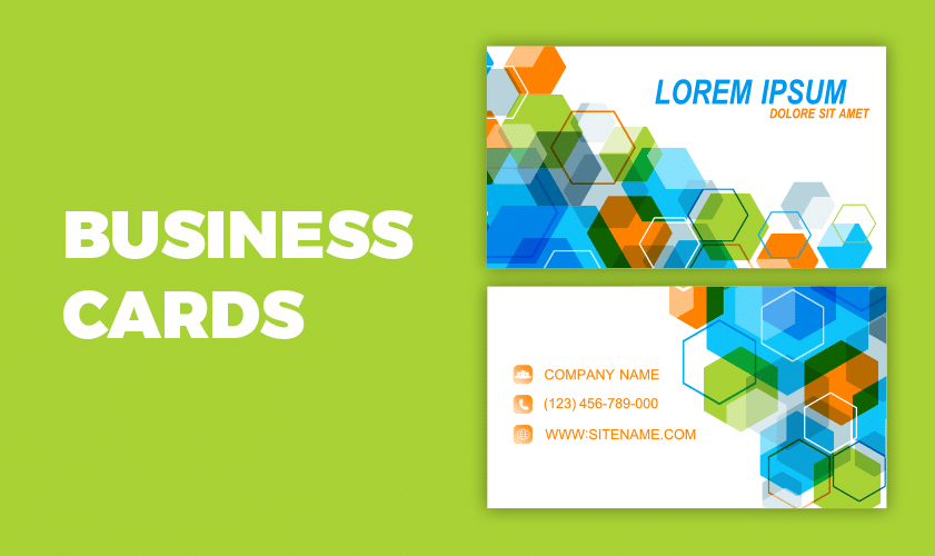 Include business cards in your business stationery