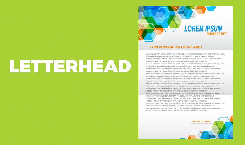Include a branded letterhead in your business stationery