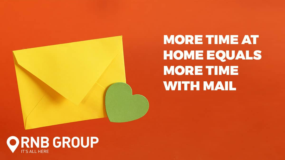 More time at home means more time spent with mail